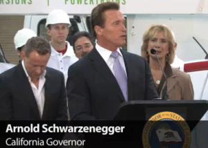 Arnold Schwarzenegger in Stockton