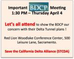 BDCP Meeting Notice