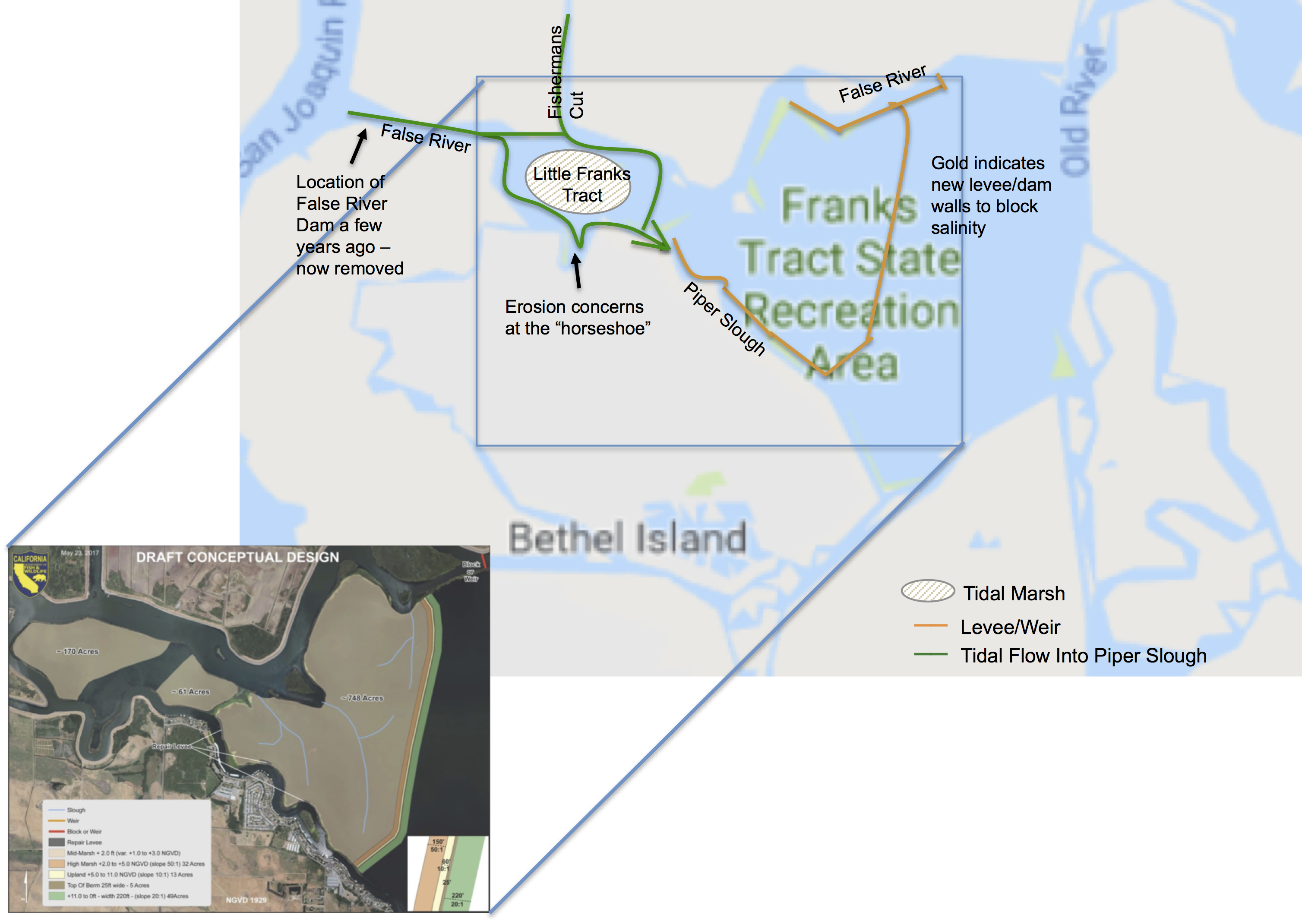 Franks tract feasibility study save the california delta for Franks tract fishing report
